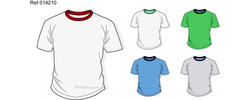 Camiseta colegial para uniformes escolares Ref.014210 - Camisetas colegio Pronens
