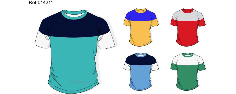 Camiseta escolar personalizada para uniformes escolares Ref.014211 - Camisetas escolares Pronens