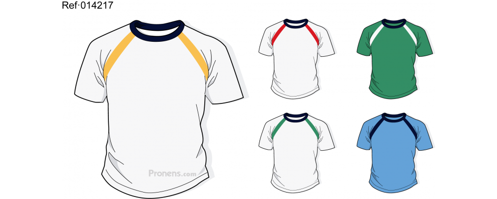 Camiseta colegio personalizada para uniformes escolares Ref.014217 - Camisetas colegio Pronens