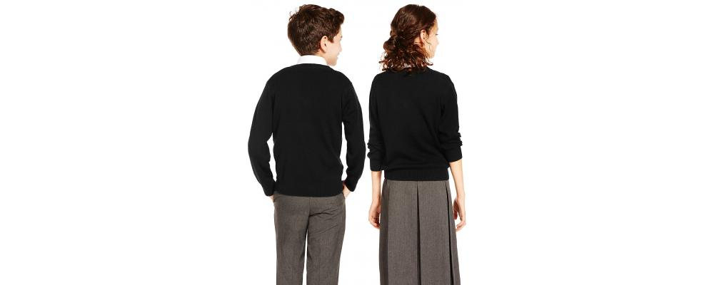 Jersey escolar negro personalizado - Jerseys escolares Pronens