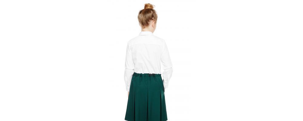 Espalda camisa colegial chica - Uniformes escolares Pronens