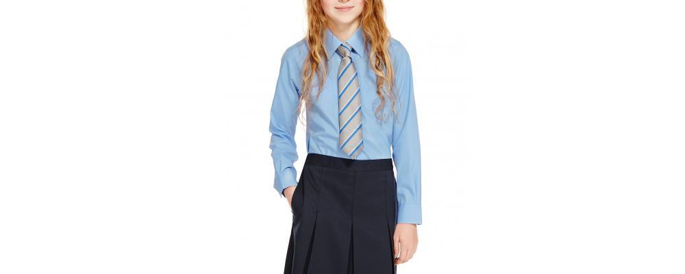 Camisa colegial azul - camisas colegiales Pronens