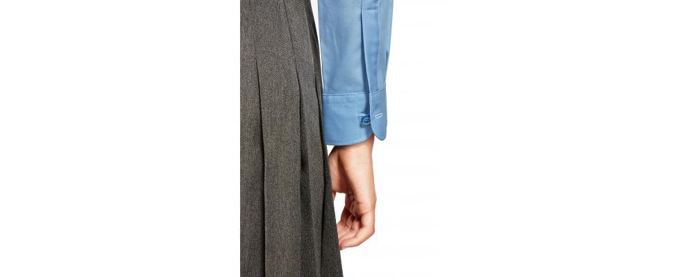 Manga camisa colegial azul - camisas escolares Pronens