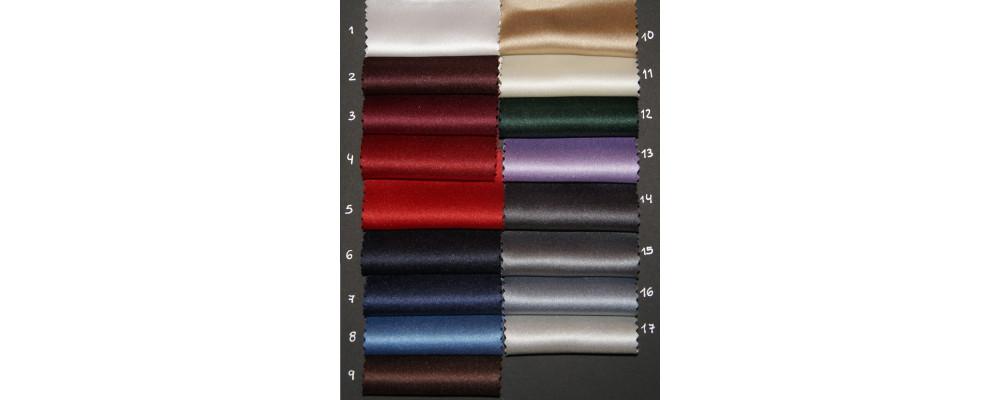 Carta colores tejido raso plus para corbatas personalizadas - Corbatas personalizadas Pronens
