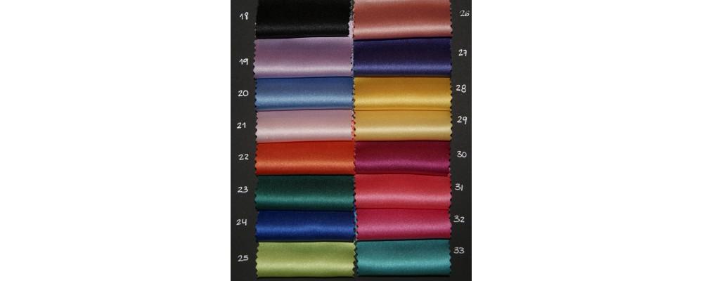 Carta colores tejido raso plus para corbatas personalizadas - Fabricante Corbatas personalizadas Pronens