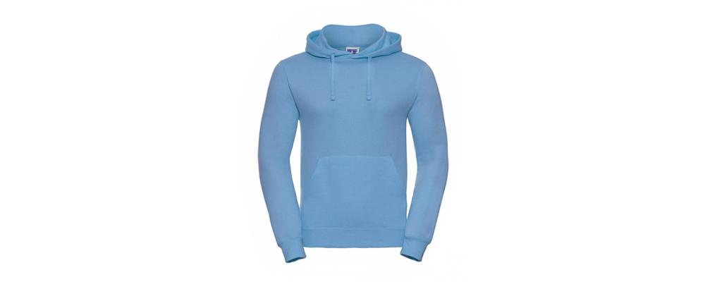 Sudadera capucha azul celeste personalizada - Uniformes educadoras infantiles Pronens