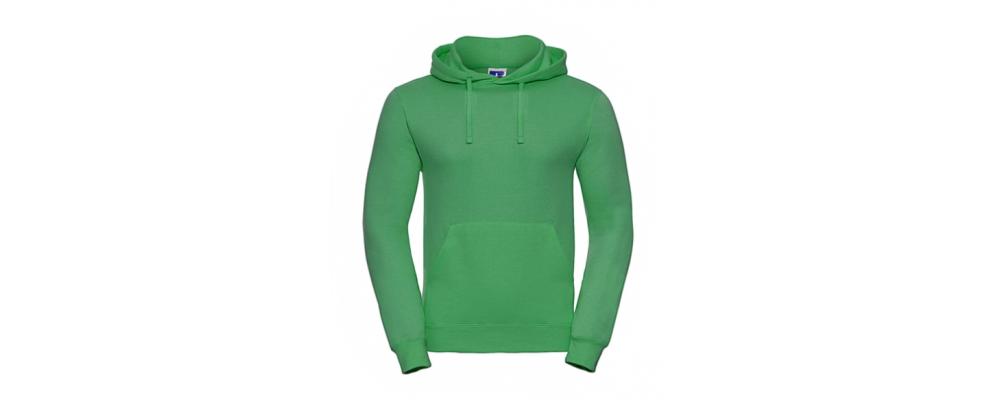 Sudadera capucha verde personalizada - Uniformes educadoras infantiles Pronens