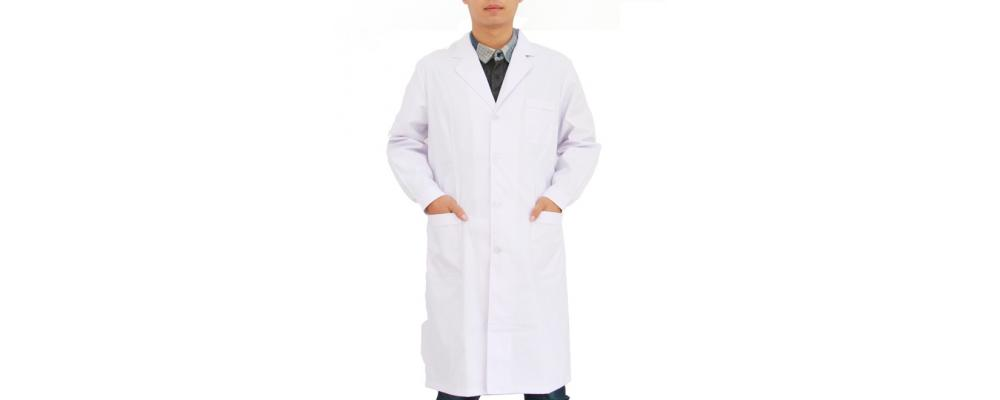 Bata blanca para laboratorios, clínicas, profesorado etc.