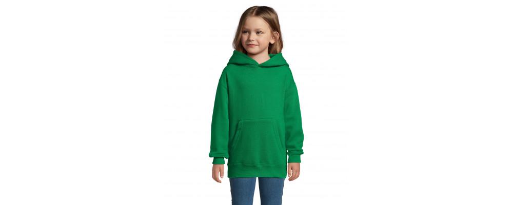 Fabricante textil de sudadera capucha canguro personalizada para colegios - verde