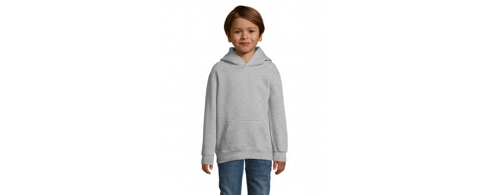 Fabricante textil de sudadera capucha canguro personalizada para colegios - gris vigore