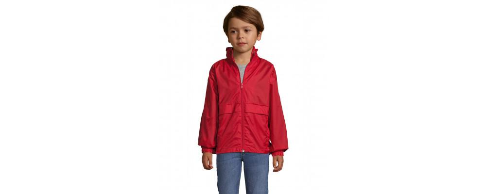 Cortavientos chubasquero impermeable personalizado para colegios y empresas - rojo