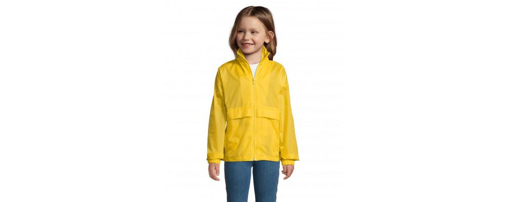 Cortavientos chubasquero impermeable personalizado para colegios y empresas - amarillo