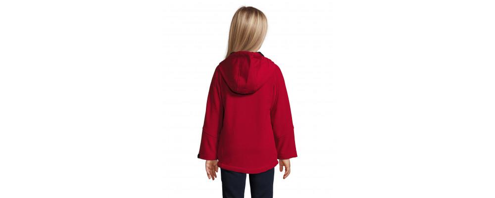 Softshells personalizados para empresas y colegios - rojo espalda