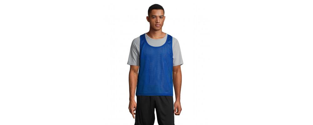 bleu Fabricant textile de Dossard sport maille perforée personnalisés pour écoles et clubs sportifs en France - PRONENS