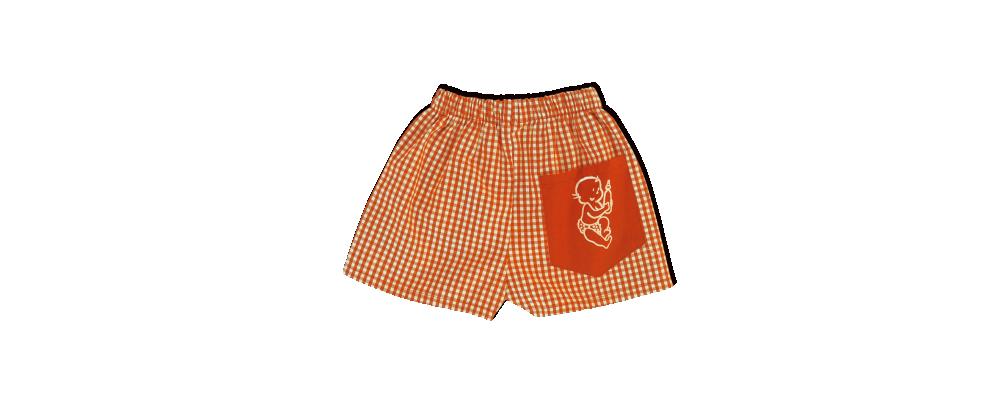 pantalon cuadro naranja guardería - uniformes escolares guarderías