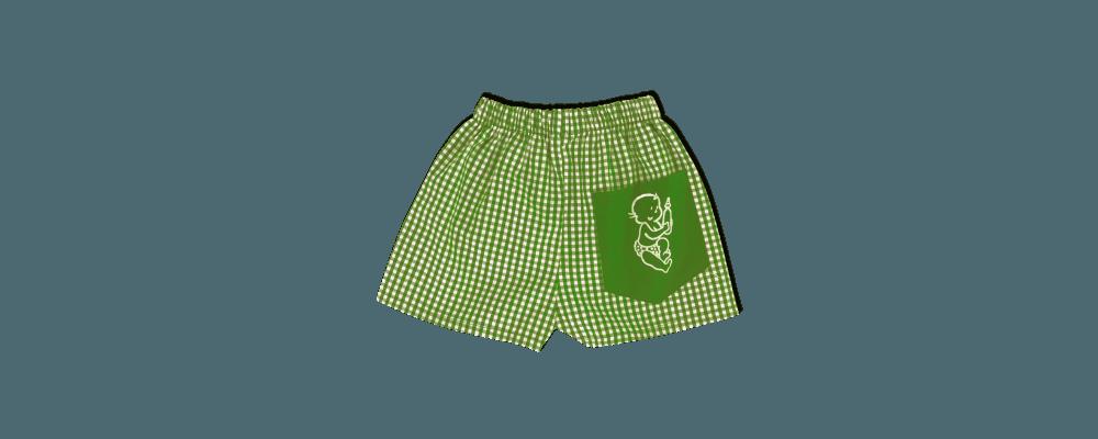 pantalon cuadro pistacho guardería - uniformes escolares guarderías